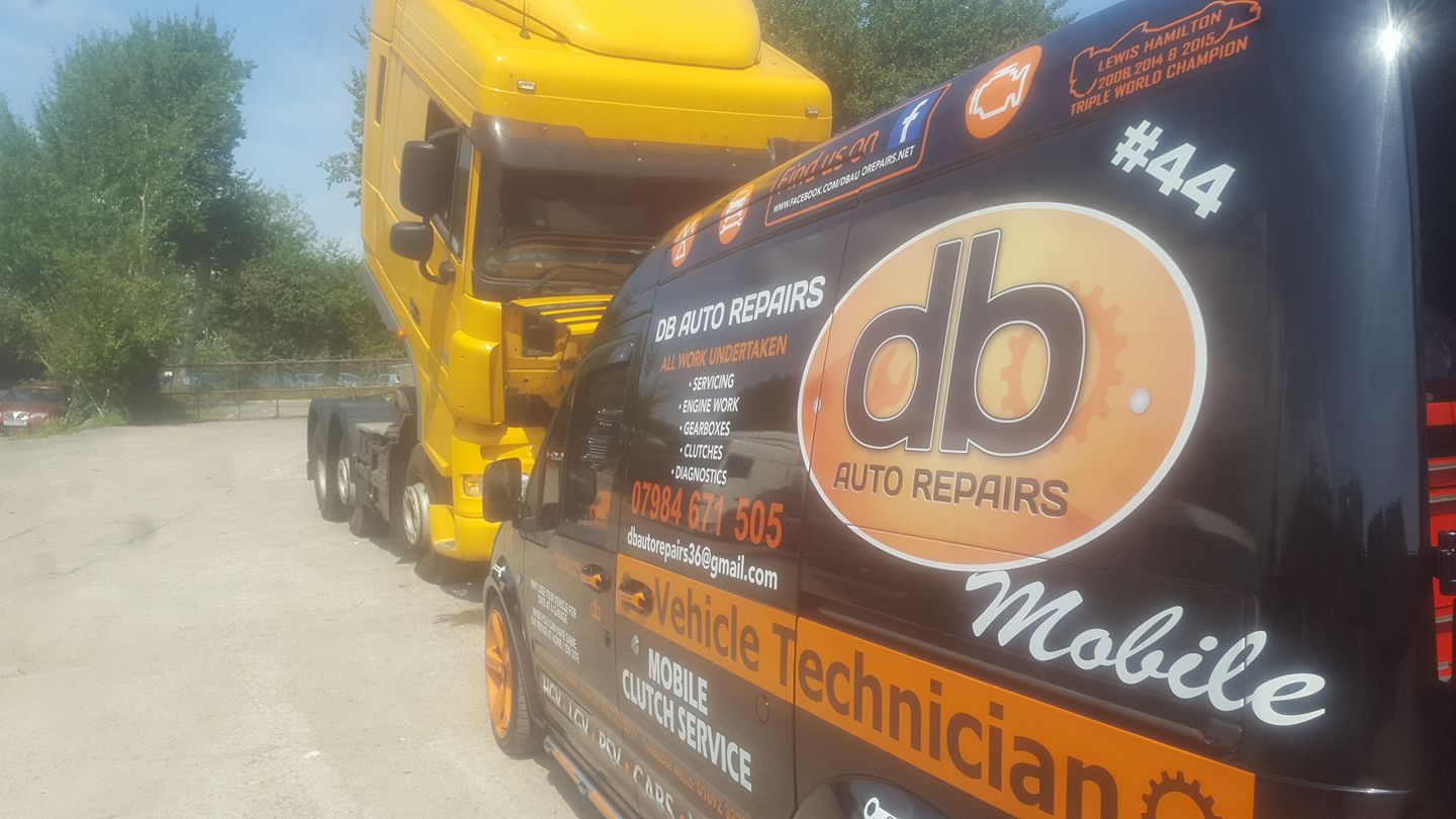 DB Auto Repairs works on an HGV